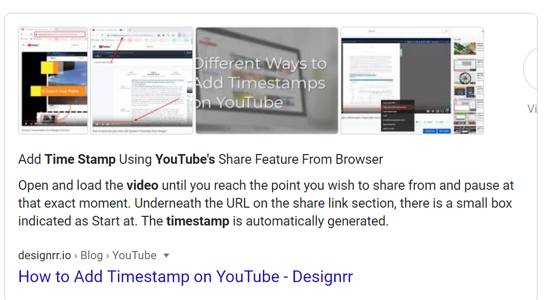 direct box serp example