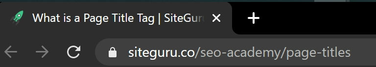 title tag on browser tab